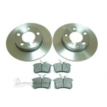 Audi A3 Mk1 1.6 1.8 1.9 TDI 1996-2003 Rear 2 Brake Discs & Pads Set