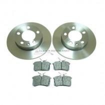 Audi Tt 1.8 Not Quattro 98-06 Rear 2 Solid Brake Discs & Pads