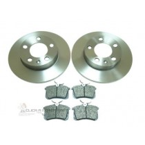 Seat Cordoba 1.4 & 1.9Tdi 2003-2009 Rear 2 Brake Discs & Pads Set
